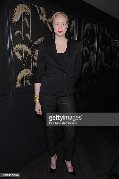 Gwendoline Christie attends the after party for the Gato Negro Films The Cinema Society screening of 'Hotel Noir' at No 8 on November 9 2012 in New...