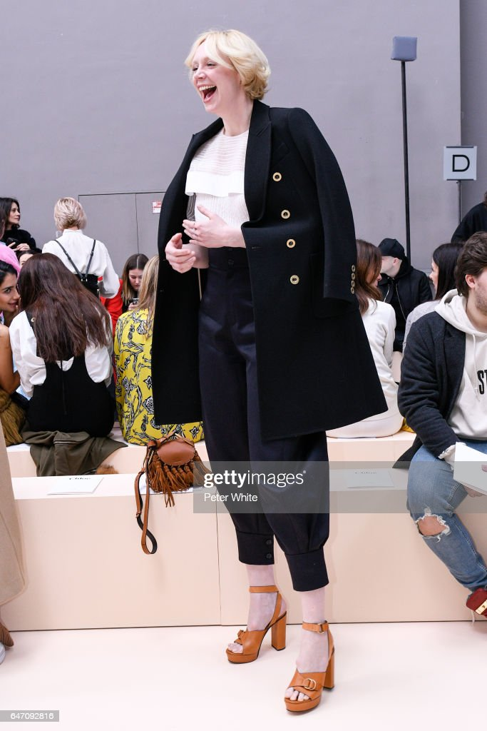 Gwendoline Christie attends the Chloe show as part of the Paris Fashion Week Womenswear Fall/Winter 2017/2018 on March 2, 2017 in Paris, France.