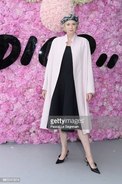 Gwendoline Christie attends the Dior Homme Menswear Spring/Summer 2019 show as part of Paris Fashion Week on June 23 2018 in Paris France