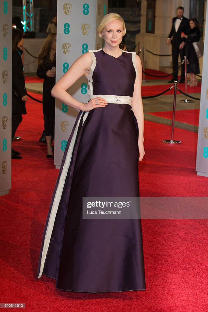 Gwendoline Christie attends the EE British Academy Film Awards at The Royal Opera House on February 14, 2016 in London, England.