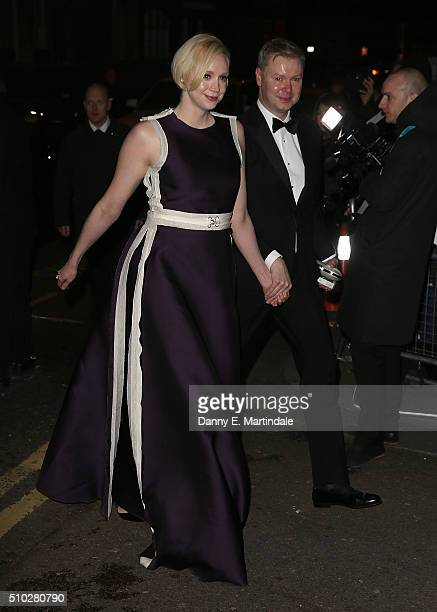 Gwendoline Christie attends the EE British Academy Film Awards gala dinner at the Grosvenor House Hotel on February 14 2016 in London England