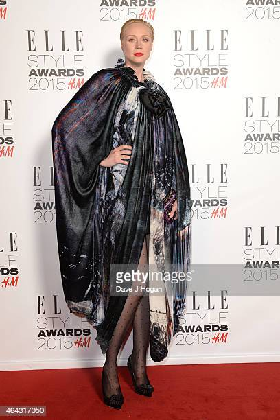 Gwendoline Christie attends the Elle Style Awards 2015 at Sky Garden @ The Walkie Talkie Tower on February 24 2015 in London England