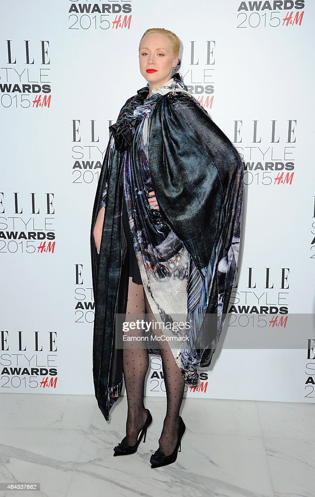 Gwendoline Christie attends the Elle Style Awards 2015 at Sky Garden @ The Walkie Talkie Tower on February 24, 2015 in London, England.