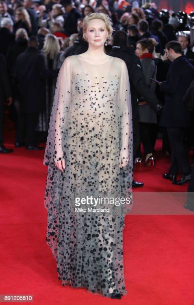 Gwendoline Christie attends the European Premiere of 'Star Wars The Last Jedi' at Royal Albert Hall on December 12 2017 in London England