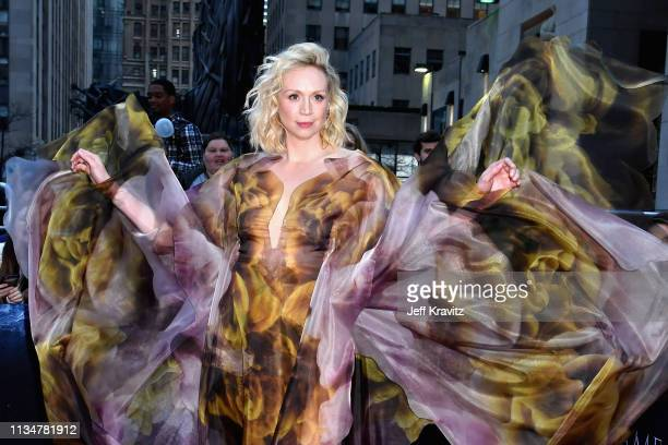 """Gwendoline Christie attends the """"Game Of Thrones"""" Season 8 NY Premiere on April 3, 2019 in New York City."""