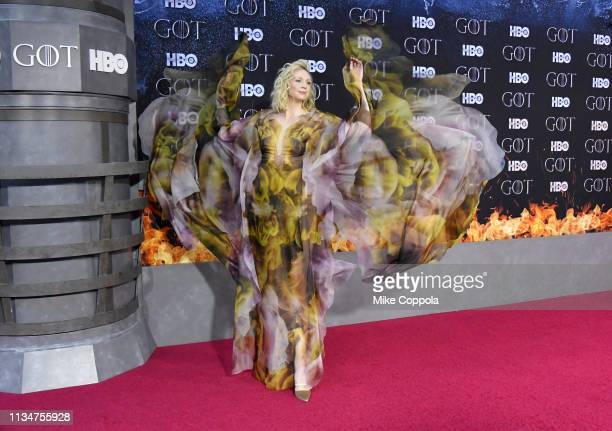 Gwendoline Christie attends the Game Of Thrones season 8 premiere on April 3 2019 in New York City