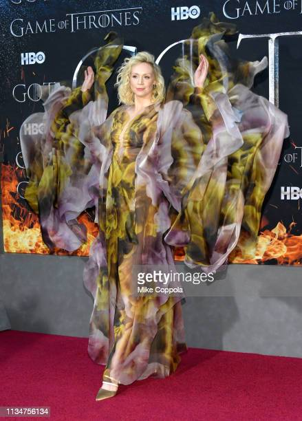 """Gwendoline Christie attends the """"Game Of Thrones"""" season 8 premiere on April 3, 2019 in New York City."""