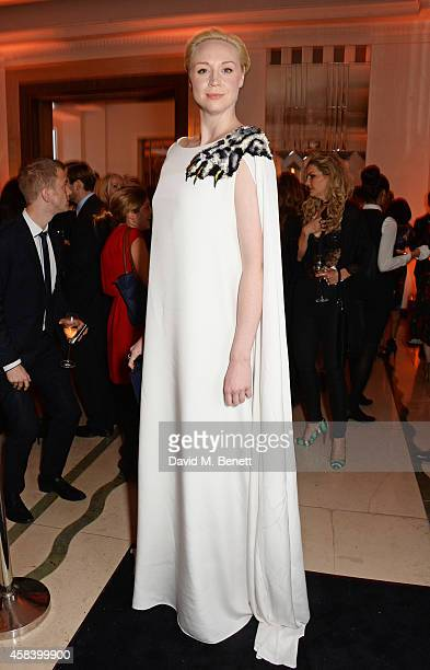 Gwendoline Christie attends the Harper's Bazaar Women Of The Year awards 2014 at Claridge's Hotel on November 4 2014 in London England