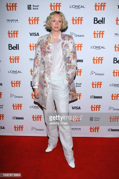 """Gwendoline Christie attends the """"In Fabric"""" premiere during 2018 Toronto International Film Festival at Ryerson Theatre on September 13, 2018 in..."""