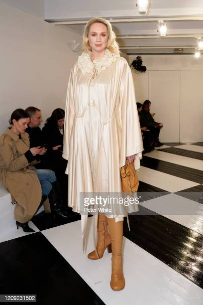 Gwendoline Christie attends the Loewe show as part of the Paris Fashion Week Womenswear Fall/Winter 2020/2021 on February 28, 2020 in Paris, France.