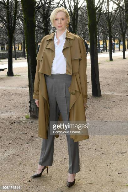 Gwendoline Christie attends the Louis Vuitton Menswear Fall/Winter 20182019 show as part of Paris Fashion Week on January 18 2018 in Paris France