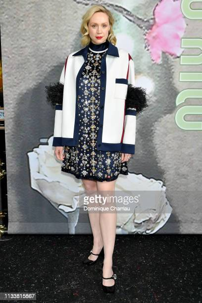 Gwendoline Christie attends the Miu Miu show as part of the Paris Fashion Week Womenswear Fall/Winter 2019/2020 on March 05 2019 in Paris France