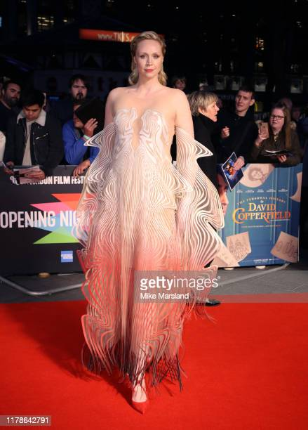 Gwendoline Christie attends The Personal History Of David Copperfield European Premiere and Opening Night Gala during the 63rd BFI London Film...