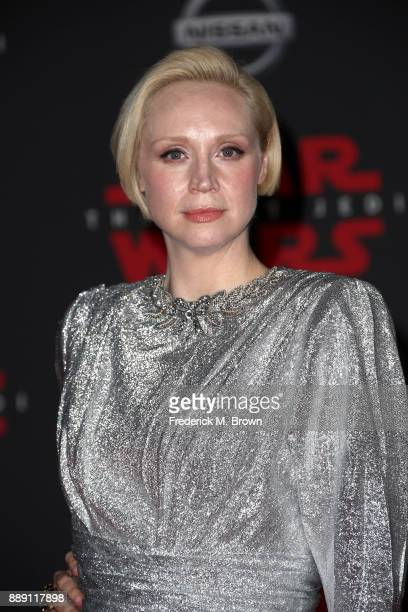 Gwendoline Christie attends the premiere of Disney Pictures and Lucasfilm's 'Star Wars The Last Jedi' at The Shrine Auditorium on December 9 2017 in...