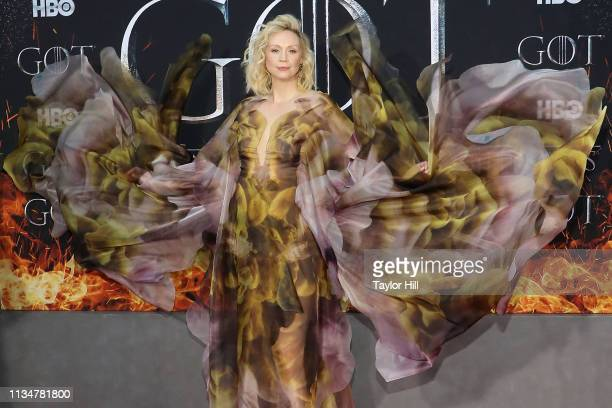Gwendoline Christie attends the Season 8 premiere of Game of Thrones at Radio City Music Hall on April 3 2019 in New York City