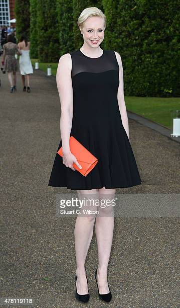 Gwendoline Christie attends the Vogue and Ralph Lauren Wimbledon party at The Orangery on June 22 2015 in London England