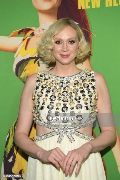 """Gwendoline Christie attends Universal Pictures and DreamWorks Pictures' premiere of """"Welcome To Marwen"""" at ArcLight Hollywood on December 10, 2018 in..."""