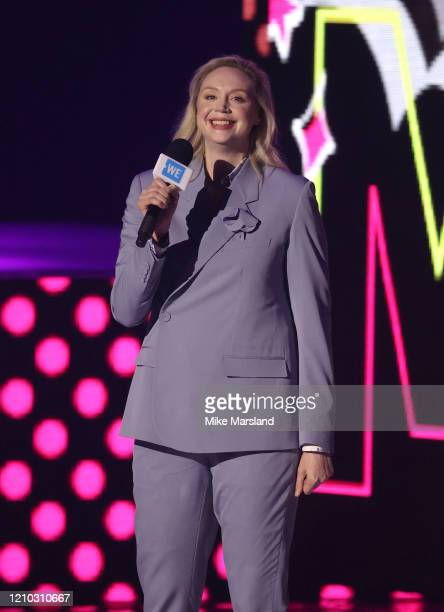 Gwendoline Christie attends WE Day UK 2020 at The SSE Arena Wembley on March 04 2020 in London England
