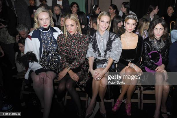 Gwendoline Christie Chloe Sevigny Poppy Delevingne Pixie Geldof and Alexa Chung attend the Miu Miu show as part of the Paris Fashion Week Womenswear...