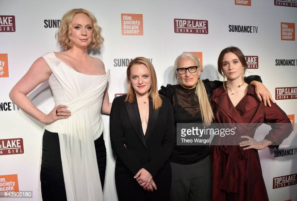 Gwendoline Christie Elisabeth Moss Jane Campion and Alice Englert attend 'Top Of The Lake China Girl' Premiere at Walter Reade Theater on September 7...