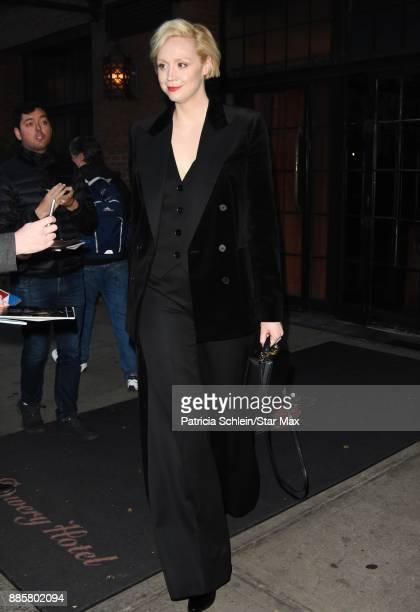 Gwendoline Christie is seen on December 4 2017 in New York City
