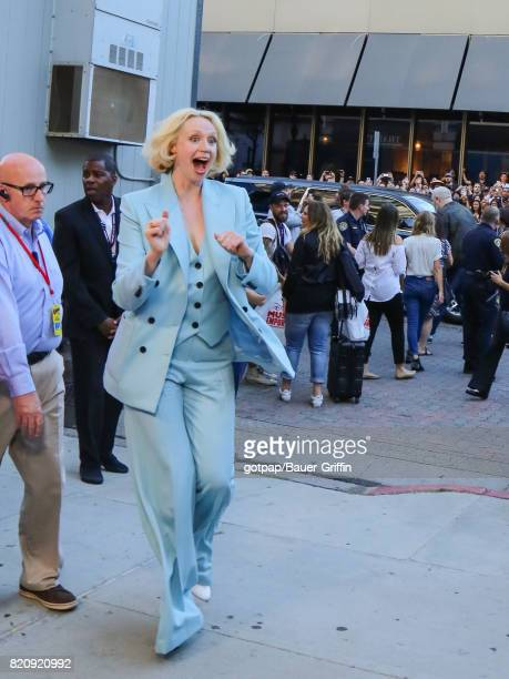 Gwendoline Christie is seen on July 21 2017 in San Diego California