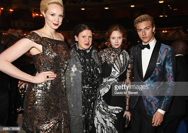 Gwendoline Christie Katie Grand Natalie Westling and Lucky Blue Smith attend a drinks reception at the British Fashion Awards in partnership with...