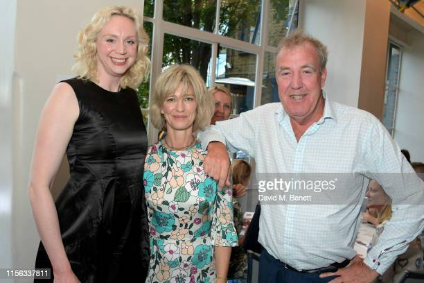Gwendoline Christie, Nicola Formby and Jeremy Clarkson attend The Sunday Times AA Gill Award for emerging food critics at The River Cafe on June 16,...