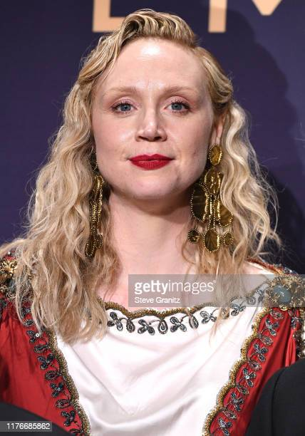 Gwendoline Christie poses at the 71st Emmy Awards at Microsoft Theater on September 22, 2019 in Los Angeles, California.