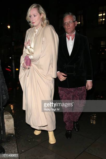 Gwendoline Christie seen attending the National Portrait Gallery fundraiser on March 09 2020 in London England