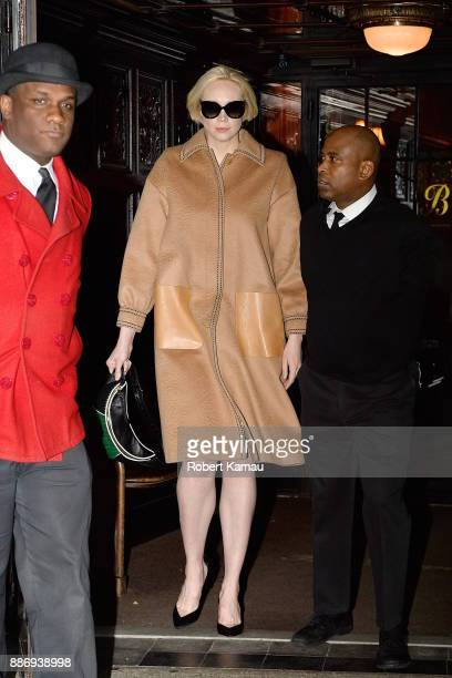 Gwendoline Christie seen out and about in Manhattan on December 6 2017 in New York City