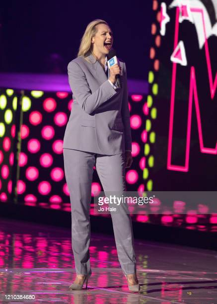 Gwendoline Christie speaks on stage at WE Day UK 2020 at The SSE Arena Wembley on March 04 2020 in London England