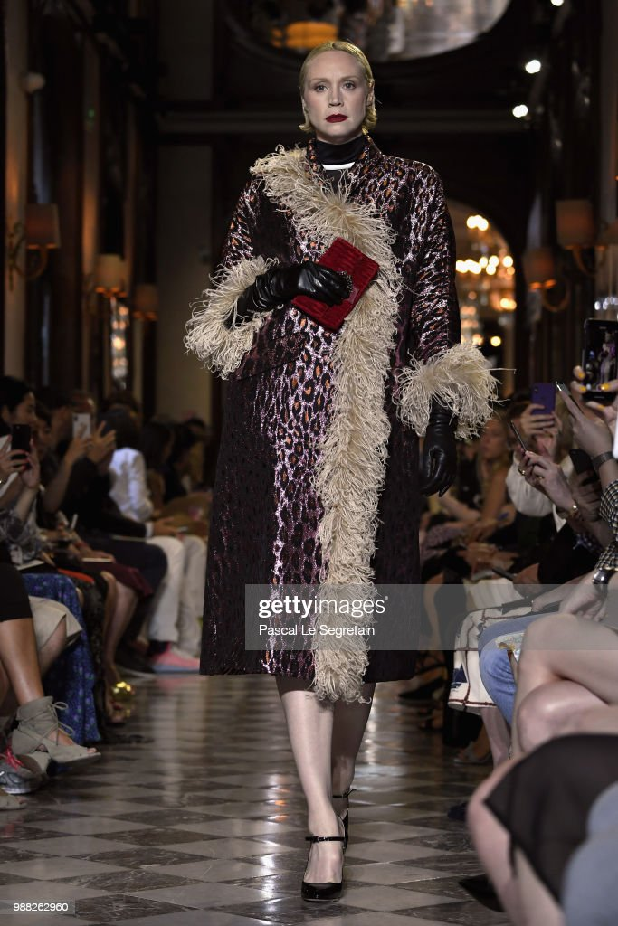 gwendoline-christie-walks-the-runway-during-miu-miu-2019-cruise-show-picture-id988262960