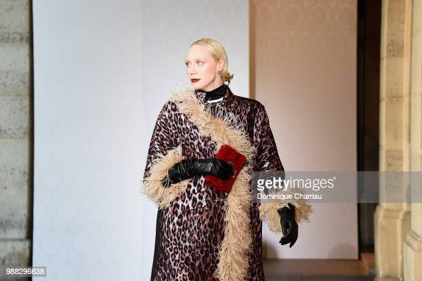 Gwendoline Christie walks the runway during Miu Miu 2019 Cruise Collection Show at Hotel Regina on June 30 2018 in Paris France