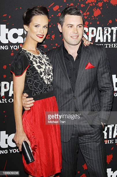 Gwendoline Taylor And Guest Arrive At The Los Angeles Premiere Of Spartacus War Of The