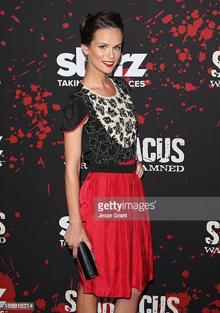 Gwendoline Taylor Arrives At The Spartacus War Of The Damned Los Angeles Premiere At