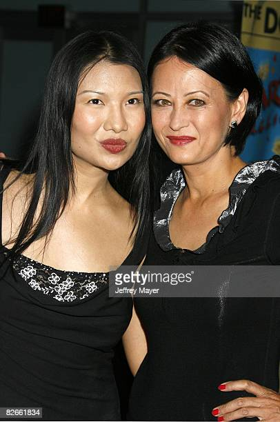 Gwendoline Yeo and Julia Nickson arrive at the Los Angeles Premiere of Towelhead at the Arclight Cinemas on September 3 2008 in Hollywood California