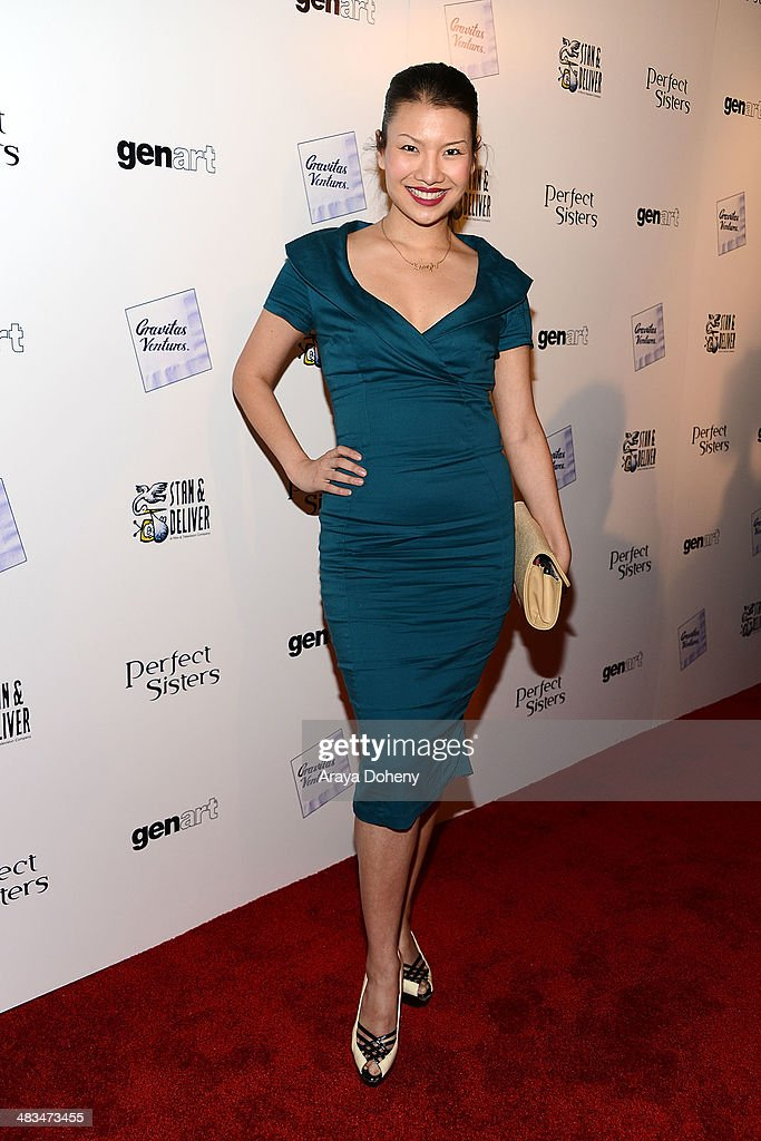 Gwendoline Yeo attends the Los Angeles premiere of Gravitas Ventures' 'Perfect Sisters' at Landmark Nuart Theatre on April 8, 2014 in Los Angeles, California.
