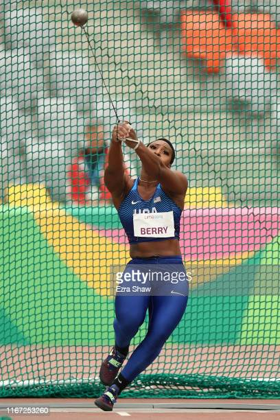 Gwendolyn Berry of United States competes in Women's Hammer Throw Final on Day 15 of Lima 2019 Pan American Games on August 10, 2019 in Lima, Peru.
