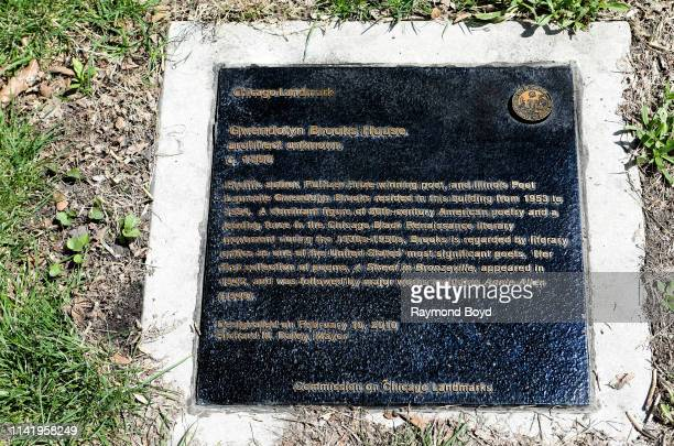 Gwendolyn Brooks House Chicago Landmark plaque in Chicago Illinois on April 8 2019