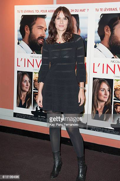 """Gwendolyn Gourvenec attends the """"L'Invitation"""" Paris Premiere at the UGC George V on October 17, 2016 in Paris, France."""