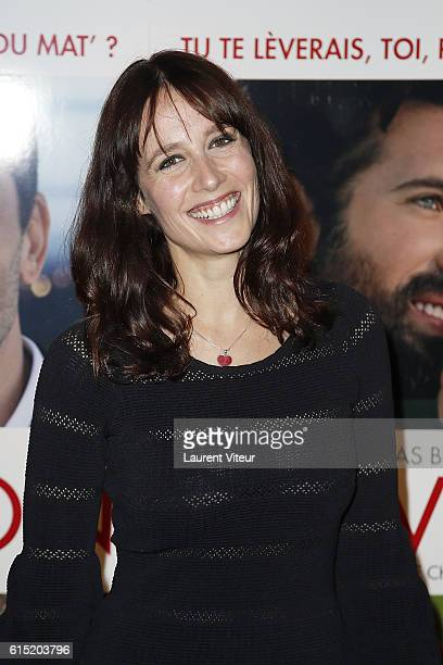 """Gwendolyn Gourvenec attends the """"l'Invitation"""" Paris Premiere at UGC George V on October 17, 2016 in Paris, France."""