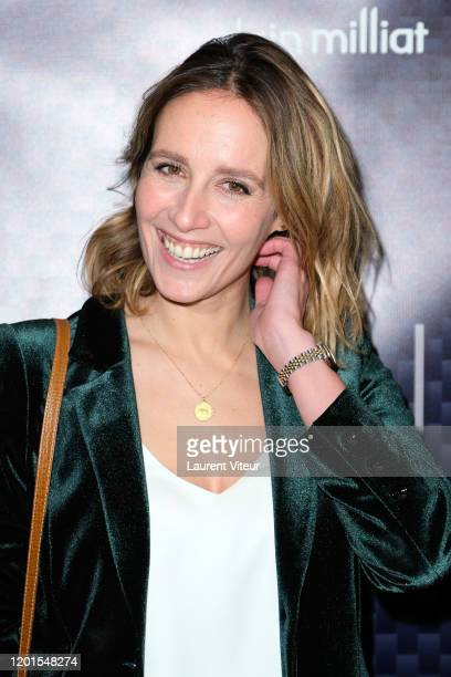"""Gwendolyn Gourvenec attends """"VeRsus"""" an exhibition by Nicolas Bary at Cinema des Cineastes on January 23, 2020 in Paris, France."""
