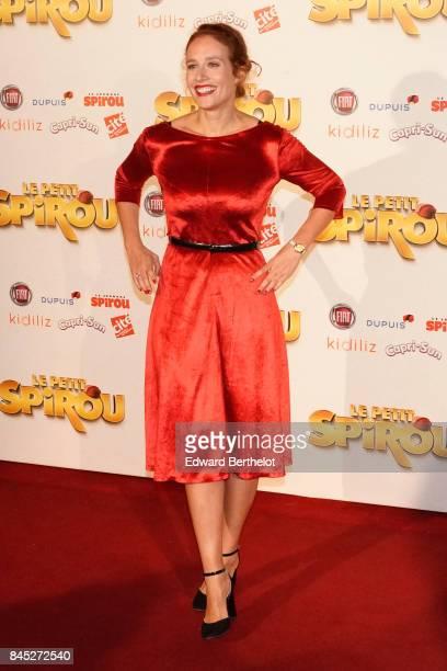 "Gwendolyn Gourvenec is seen during the ""Le Petit Spirou"" Paris Premiere at Le Grand Rex on September 10, 2017 in Paris, France."