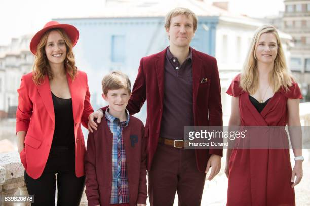 Gwendolyn Gourvenec, Sacha Pinault, Nicolas Bary and Natacha Regnier attend the 10th Angouleme French-Speaking Film Festival on August 27, 2017 in...