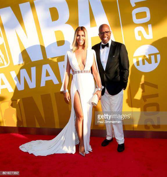 Gwendolyn Osborne and Kenny Smith attend the 2017 NBA Awards at Basketball City Pier 36 South Street on June 26 2017 in New York City