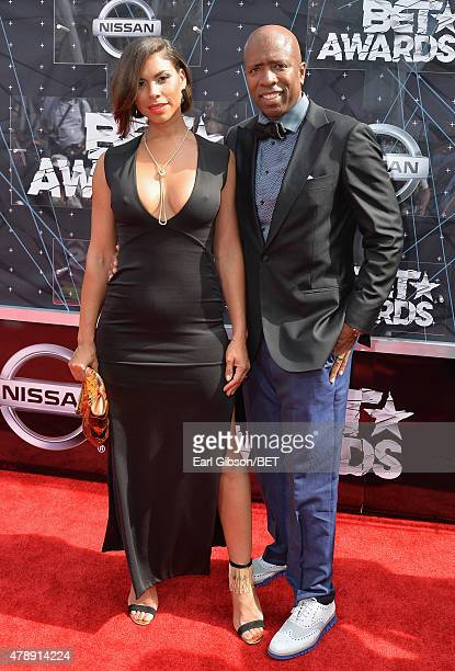 Gwendolyn Osborne and sports commentator Kenny Smith attend the 2015 BET Awards at the Microsoft Theater on June 28 2015 in Los Angeles California