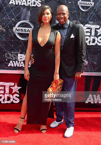 Gwendolyn Osborne Smith and Kenny Smith attend the 2015 BET Awards on June 28 2015 in Los Angeles California