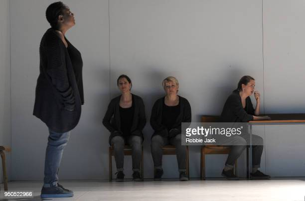 GwenethAnn Rand as Gwen Susanna Hurrell as Suzy Lucy Schaufer as Lucy and Samantha Price as Clare in the Royal Opera's production of Sarah Kane's 448...