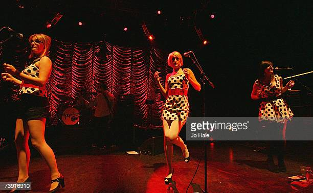 Gwenno Pipette Becki Pipette Rose Pipette of The Pipettes perform onstage at Shepherds Bush Empire on April 18 2007 in London England